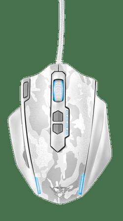 Trust gaming miška GXT 155, bela