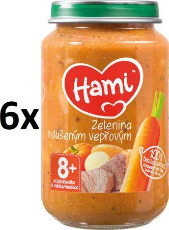 Hami Zelenina s dušeným vepřovým - 6 x 200g