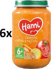 Hami Zelenina s morkou a paradajkami - 6 x 200g