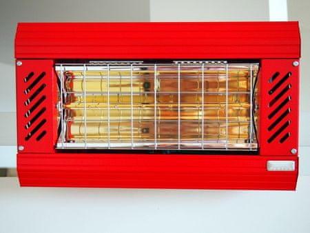 Bionaire TANSUN Apollo Infrafűtő, Piros, 2 kW