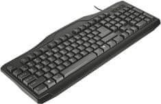 TRUST ClassicLine Keyboard, CZ & SK, USB (21016)