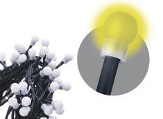 Emos svetlobna veriga s časovnikom, 200 LED – kroglice, 20 m, topla bela