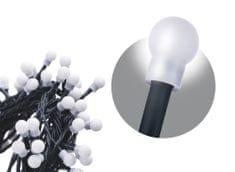 Emos svetlobna veriga s časovnikom, 200 LED – kroglice, 20 m, hladna bela