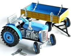 KOVAP Traktor Zetor s prívesom na kľúčik modrý