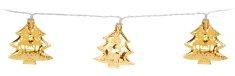 Metalac Svítící řetěz Strom 10 LED zlatý