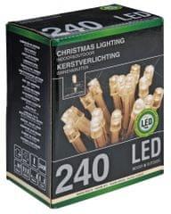 Metalac Průhledný řetěz 240 LED teplá bílá