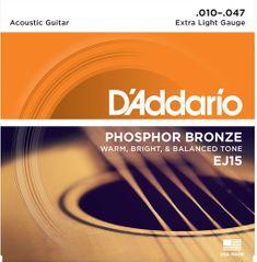 Daddario EJ15 Kovové struny na akustickú gitaru