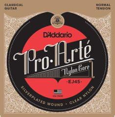 Daddario EJ45 Nylonové struny na klasickú gitaru