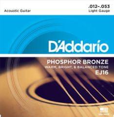Daddario EJ16 Kovové struny na akustickú gitaru