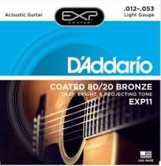 Daddario EXP11 Kovové struny na akustickú gitaru