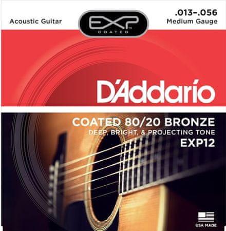 Daddario EXP12 Kovové struny pro akustickou kytaru
