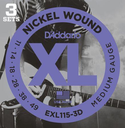 Daddario EXL115-3D Struny na elektrickú gitaru