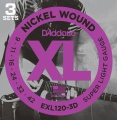 Daddario EXL120-3D Struny na elektrickú gitaru