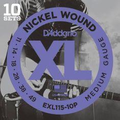 Daddario EXL115-10P Struny na elektrickú gitaru
