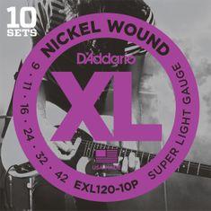Daddario EXL120-10P Struny na elektrickú gitaru