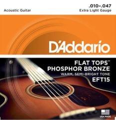 Daddario EFT15 Kovové struny na akustickú gitaru
