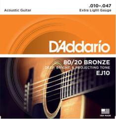 Daddario EJ10 Kovové struny na akustickú gitaru