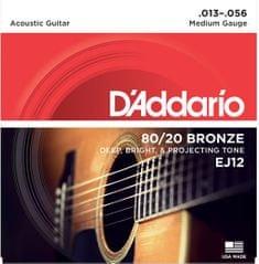 Daddario EJ12 Kovové struny na akustickú gitaru