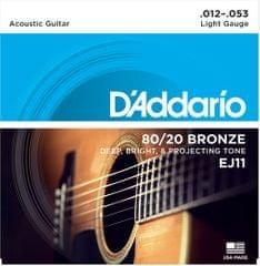 Daddario EJ11 Kovové struny na akustickú gitaru