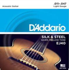 Daddario EJ40 Kovové struny na akustickú gitaru
