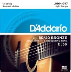 Daddario EJ36 Struny na dvanásťstrunovú gitaru