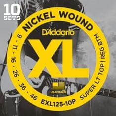 Daddario EXL125-10P Struny na elektrickú gitaru