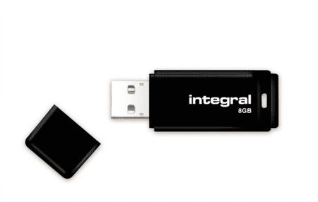 Integral USB ključek 2.0 Black, 8 GB