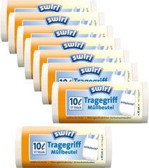 Swirl Pack 8x Vrecká na odpad antibakteriálne 10l/37ks