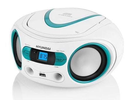 HYUNDAI TRC 533 AU3 Hordozható CD-lejátszó, fehér/kék