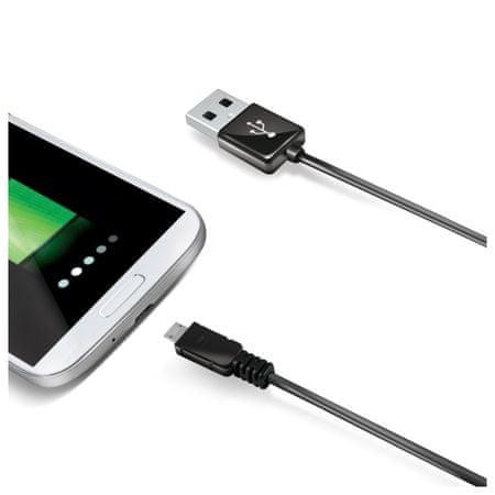 Celly podatkovni kabel, micro USB, 2m