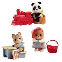 Sylvanian Families Bébi szettek hordozható dobozban (zsákbamacska 1db figurával)