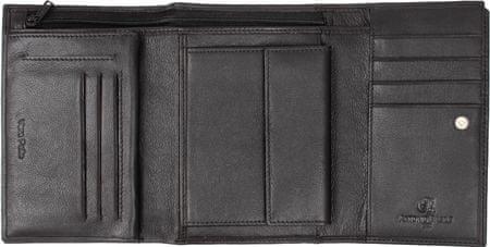 Emporio Valentini usnjena denarnica Basile 256, ženska, črna