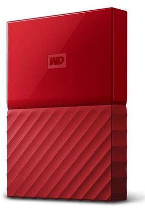 WD zunanji trdi disk My Passport 1 TB, rdeč (WDBYNN0010BRD-WESN)
