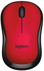 Logitech računalni miš M220 Silent, crveni