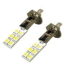 M-LINE žarnica LED 12V H1 12xSMD CANBUS, bela, par