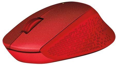 Logitech miš M330 Silent Plus, crveni
