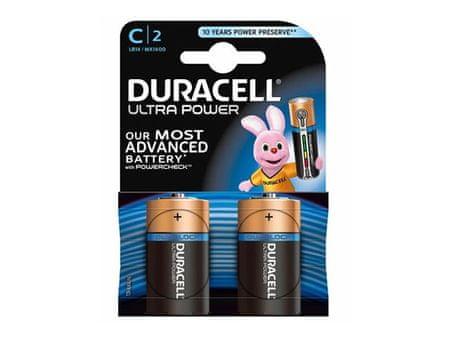 Duracell alkalne baterije Ultra Power MX1400B2 Size C LR14 (2 kosa)