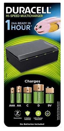 Duracell večnamenski polnilnik baterij Hi-Speed CEF22-EU (AA/AAA/C/D/9V)