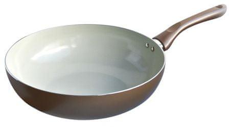 Toro keramična wok ponev, barva šampanjca, 28 cm