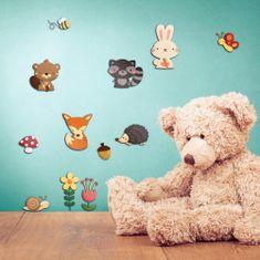 Crearreda dekorativna zidna naljepnica 3-slojna Šumske životinje, M