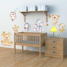 Crearreda dekorativna zidna naljepnica Slatke životinje, XL