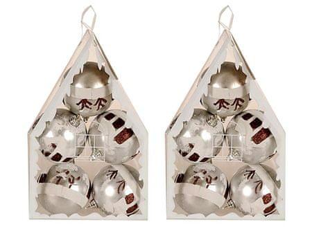 EverGreen božične krogle, 2x5, srebrne