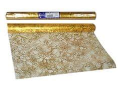 EverGreen dekorativni stoljnjak,uzorak grana, zlatni, 2 komada