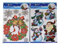 EverGreen okenske nalepke z božičnimi motivi, 2 kosa