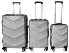 Leonardo Zestaw walizek ABS, srebrne