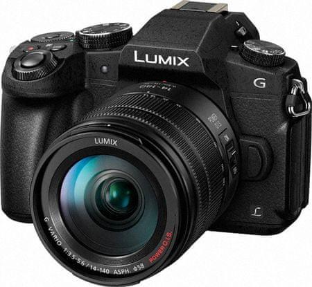 Panasonic digitalni brezzrcalni fotoaparat Lumix DMC-G80 + 14-140