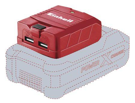 Einhell prijenosni USB adapter za PXD bateriju TE-CP 18 Li USB-Solo. bez baterije i punjača