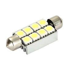 M-LINE žarnica LED 12V C5W 42mm 8xSMD 5050, bela, par
