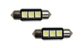 M-LINE žarnica LED 12V C5W 36mm 3xSMD 5050, bela, par