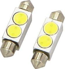 M-LINE žarnica LED 12V C5W 36 mm 3 chip 2W CREE LED, 180°, alu-ohišje, bela, par